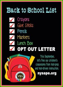 Back to School List with Opt Out Letter