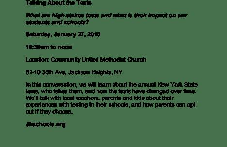 Jackson Heights forum